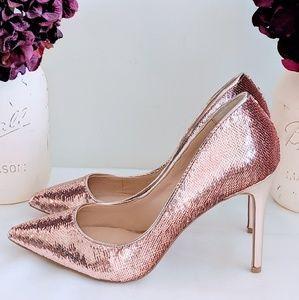NWOB Badgley Mischka Jewel Sequin Heels